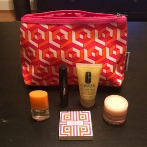 NWOT Clinique Jonathan Adler Case and Minis